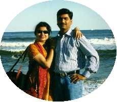 Prabhakar & Twinkle at Atlantic-City Sea-Beach